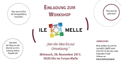 Flyer Einladung Workshop Melle